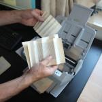 Automatic accordeon folding